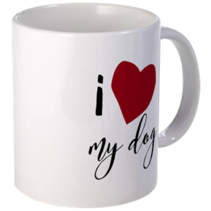 I heart my dog - mug for dog lovers